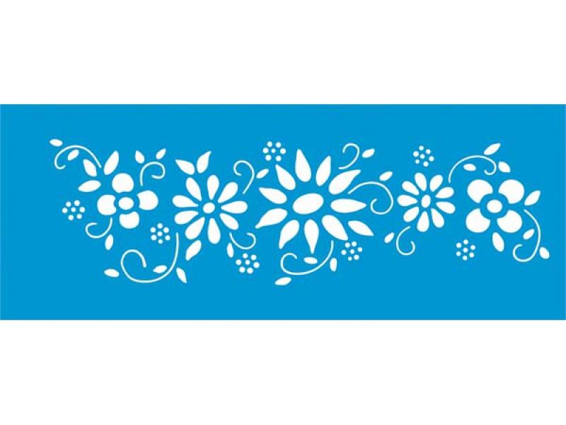 Stencil Para Pintura Pequeno Litoarte Flor Stp 064