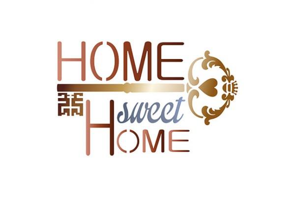 STENCIL 20X20CM LITOARTE HOME SWEET HOME