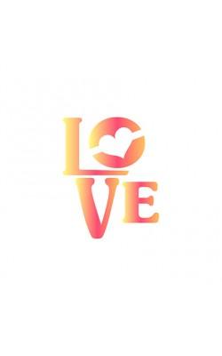STENCIL PARA PINTURA X LITOARTE 10X10 LOVE