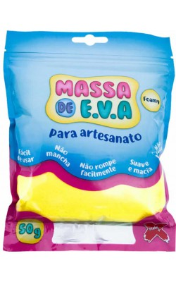 MASSA DE EVA PARA ARTESANATO 50 G AMARELO