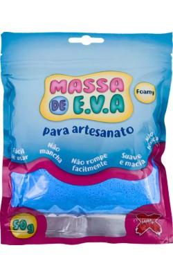 MASSA DE EVA PARA ARTESANATO 50 G AZUL CLARO