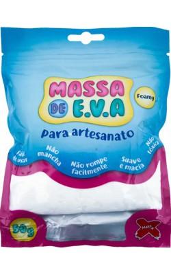 MASSA DE EVA PARA ARTESANATO 50 G BRANCO