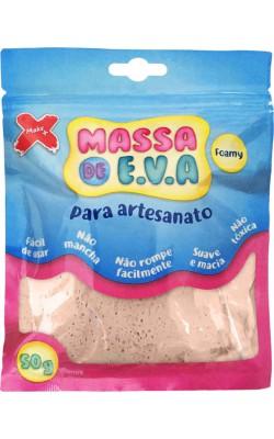 MASSA DE EVA PARA ARTESANATO 50 G BEGE PELE