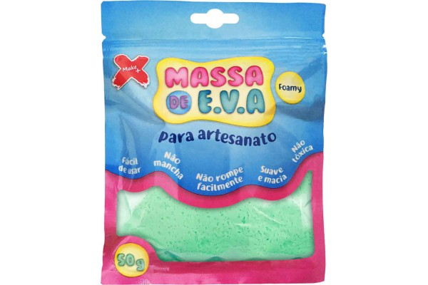 MASSA DE EVA PARA ARTESANATO 50 G VERDE CLARO