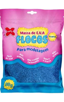 MASSA DE EVA FLOCOS PARA ARTESANATO 50G AZUL CLARO