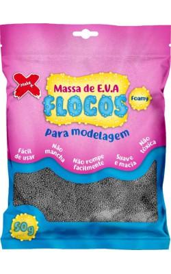 MASSA DE EVA FLOCOS METAL COM GLITTER PARA ARTESANATO 50G PRATA