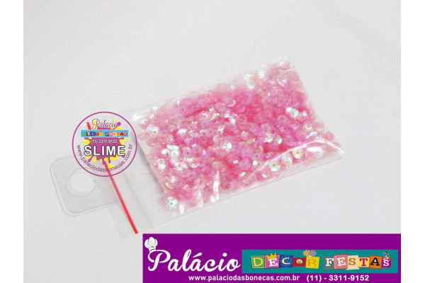 CHARMS PARA SLIME PAETE ROSA ESCURO