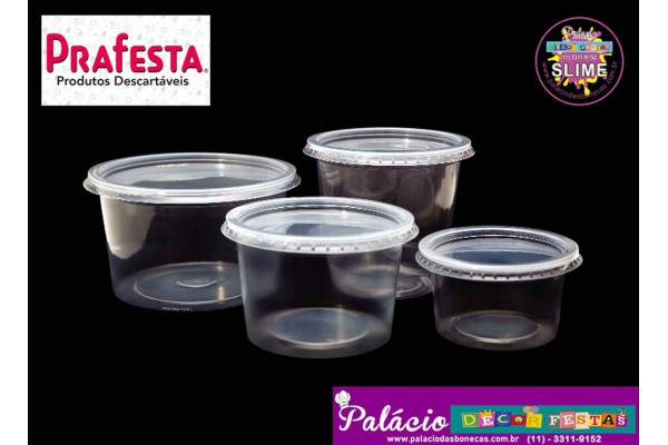 POTE PLASTICO PRAFESTA 145ML 01 UNIDADE
