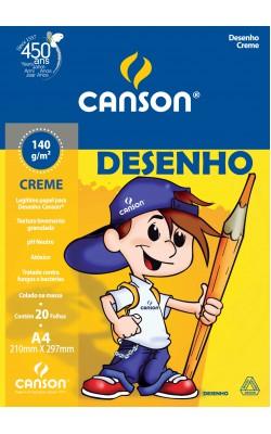 BLOCO DESENHO C A GRAIN A4 C/ 20 FOLHAS CANSON CREME