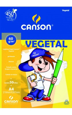 PAPEL VEGETAL CANSON A4 210X297MM C/ 50 FOLHAS