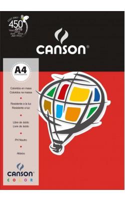 PAPEL COLOR CANSON VERMELHO A4 180G C/ 50FLS