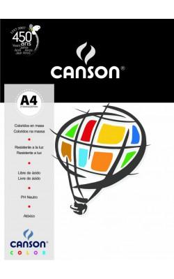 PAPEL CANSON COLOR A4 180G C/ 10 FLS MARFIM