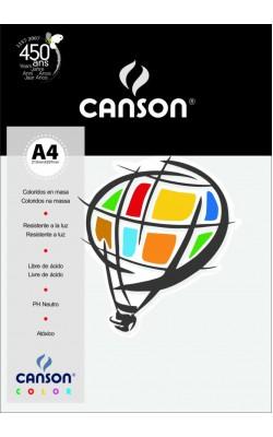 PAPEL CANSON COLOR A4 180G C/ 10 FLS AZUL CLARO