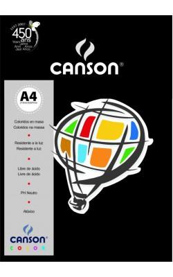 PAPEL CANSON COLOR A4 180G C/ 10 FLS PRETO