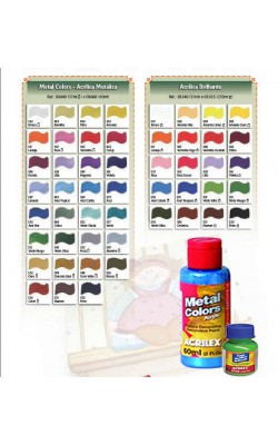 METAL COLORS ACRYLIC 60ML PRATA ACRILEX