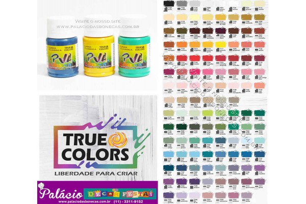 TINTA PVA FOSCA 37ML TRUE COLORS AMARELO GEMA