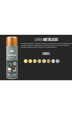 TINTA SPRAY COLORART 300ML OURO ROSE